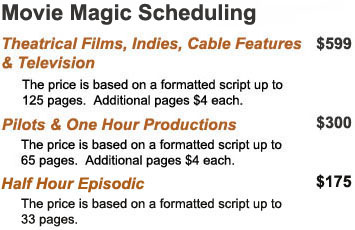 Movie Magic Scheduling Services